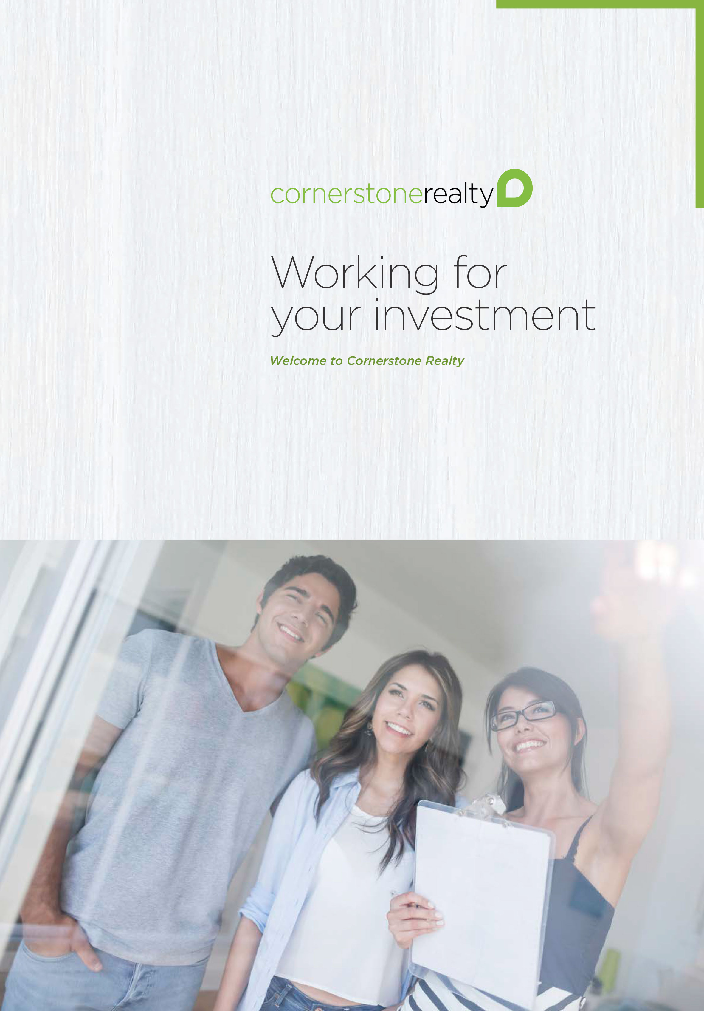 Working for your investment Brochure | Cornerstone Living